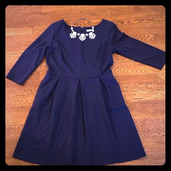 Merona Dresses & Skirts - Merona Ponte 3/4 Sleeve Fit and Flare Dress